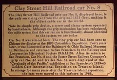 About the Clay Street Hill Railroad Company (marylea) Tags: mar14 2019 sanfrancisco california cablecar powellst cablecarmuseum history historical claystreethillrailroad claysthillrr claystreethillrailroadcarno8 plaque 1873