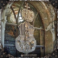 """The Schwarzenberg family motto was """"NIL NISI RECTUM"""" (NOTHING BUT THE RIGHT), and can often be found underneath their coat of arms, but it is not known if Rint included it as part of his sculpture. Though knowing Rint's penchant for writing in bones, we w (Sedlec Ossuary Project) Tags: sedlecossuaryproject sedlec ossuary project sedlecossuary kostnice kutnahora kutna hora prague czechrepublic czech republic czechia churchofbones church bones skeleton skulls humanbones human mementomori memento mori creepy travel macabre death dark historical architecture historicpreservation historic preservation landmark explore unusual mechanicalwhispers mechanical whispers instagram ifttt"""