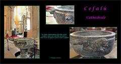 Fonts batismaux© Céfalù (philippedaniele) Tags: cathédraledecéfalù céfalù sicile croiséedutransept fontsbaptismaux tombeau pilier chapiteaux