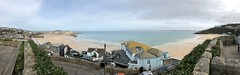 """Panoramic view of St Ives in Cornwall (baldychops) Tags: mobile """"iphone8"""" iphone panorama panoramic visitor view visit english england britain british outdoor winter seaside sea beach """"stives"""" cornwall"""