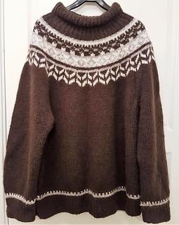 Icelandic lopi wool sweater