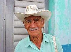 Street portrait (P Villerius) Tags: cowboy hat cowboyhat portrait face man street streetportrait santa clara santaclara cuba