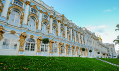 Catherine Palace (Summer Palace) (phuong.sg@gmail.com) Tags: pushkin architecture belfry bell blue building cathedral catherine christianity church cross culture domes famous golden grass green historical landscape monastery old orthodox outdoors palace petersburg place religion russia russian sacred selo sky st summer temple traditional travel tsarskoye vacation view white worship