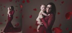 montage2 (L.Bouillon Photography) Tags: bébé maman dress robe rouge red portrait