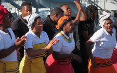 Emotions (__ PeterCH51 __) Tags: singers tradition vocalgroup vawaterfront waterfront capetown westerncape southafrica za singing dancing peterch51 streetlife streetmusic enthusiasm