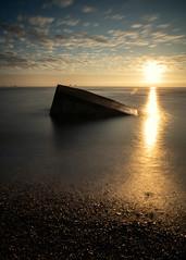 Sunrise (PeskyMesky) Tags: aberdeen aberdeenbeach riverdon sunrise sunset longexposure water sea ocean pillbox canon canon5d eos