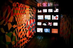 (youngkurama) Tags: themarguliescollection thewarehouse miami florida art exhibitions photography gallery wynwood artdistrict film 35mm canon canonrebel february 2019 life traveling shooters televisions colors lights lighting indoors