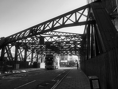 Worship Street, London (a.pierre4840) Tags: panasonic lumix gm1 micro43 14mm f25 streetphotography shadows london england bw blackandwhite noiretblanc luminar3 fotor atmosphere urban bridge perspective
