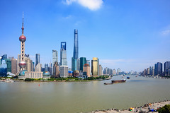 Shanghai city skyline (Patrick Foto ;)) Tags: abstract aerial architecture asia background building business center china chinese city cityscape construction corporate day destination downtown dusk finance financial high holiday huangpu journey landmark metropolitan modern office oriental panoramic pearl pudong river scene shanghai ship sky skyline skyscraper tourism tower travel urban view water waterfront world peoplesrepublicofchina cn