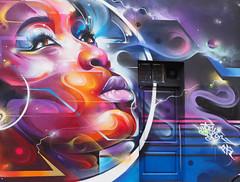 Hanbury Street: Mural by Mr Cenz (HVHY4C3E7S3Y3Q3HRVKYFJJLOK) Tags: graffiti art flyposting bricklane london mrcenz