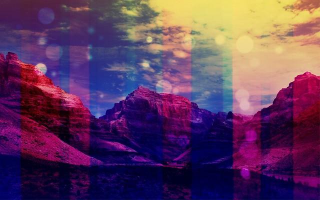 Обои горы, блики, полосы картинки на рабочий стол, фото скачать бесплатно