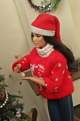 Christmas tree (kinmegami) Tags: christmastree christmas doll integrity toys miniature barbie roombox diorama 16 mattel