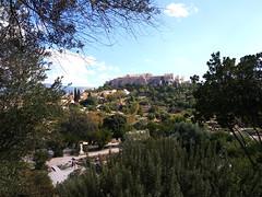 sight across ancient athens (citizensunshine) Tags: ελλάδα αθήνα αιγαίο greece athens aegean aegeansea ήφαιστίων hephaistion agora templeofhephaestus acropolis parthenon παρθενώνασ