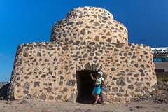 El Cotillo fortress (piotr_szymanek) Tags: fuerteventura landscape blue sky outdoor building marzka woman milf portrait hat glasses sunglasses shorts elcotillo