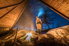 Finnland 2019 (Stefan Giese) Tags: nikon d750 finnland lappland night nacht sallatunturi stargazer feuer lagerfeuer fire hütte hut laavu