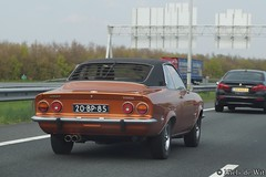 1974 Opel Manta (NielsdeWit) Tags: nielsdewit car vehicle 20bp85 a12 driving highway snelweg opel manta a automatic xv664v