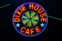 Dixie House Cafe (dangr.dave) Tags: haltomcity fortworth tx texas downtown historic architecture cowtown tarrantcounty panthercity neon neonsign dixiehousecafe