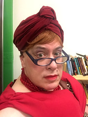Day 2484: Day 294: Turban and glasses (knoopie) Tags: 2018 october iphone picturemail greenroom ericksontheatre casavalentina theater bessie doug knoop knoopie me selfportrait 365days 365daysyear7 year7 365more day2484 day294