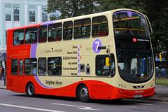 BK10 MGV, Steine Gardens, Brighton, August 6th 2015 (Southsea_Matt) Tags: bk10mgv 440 wright eclipse gemini volvo b5lh brightonhove goahead steinegardens brighton sussex canon 60d 1850mm august 2015 summer bus omnibus vehicle transport lordcohen