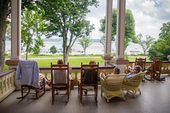 Relaxing On The Porch (Robert F. Carter) Tags: chautauqua newyork porch porches relaxation people mayville unitedstates us lakechautauqua wicker