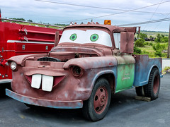 """Sir Towbert """"Tow"""" Mater - AKA """"Tow Tater"""" (J Wells S) Tags: sirtowbert towmater towtater chevrolet chevrolettowtruck rust rusty crusty junk carsmovie carsontheroute route66 themotherroad galena kansas"""