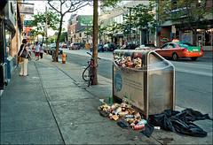 garbage_strike_queen_john_01_8779982040_o (wvs) Tags: bin garbage people streets strike textures urban toronto ontario canada can