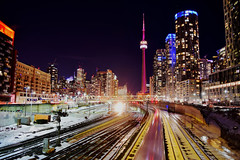 City lights (mrsparr) Tags: scavenger8 ansh toronto ontario canada night winter
