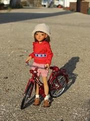 Anais enjoying.... (dambuster01) Tags: irrealdoll annic truffleskin artistdoll tiny tinies bjd jointed resin bike