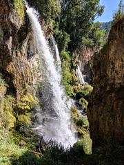 Waterfall - Rifle Falls, Colorado (BeerAndLoathing) Tags: 2018 usa cellphone riflefalls google pixelxl summer roadtrip waterfall canoneos77d august trip googlepixel android pallisadetrip pixel colorado newcastle unitedstatesofamerica us