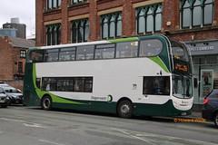 Stagecoach Manchester 12258 (SN63 VTX) (SelmerOrSelnec) Tags: stagecoachmanchester alexanderdennis enviro400 hybrid sn63vtx manchester albionstreet bus