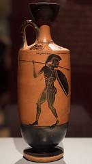 Athenian Black Figure lekythos with pyrrhic dancers, 1 (diffendale) Tags: 5thcbce 480sbce early5thcbce 1sthalf5thcbce 1stquarter5thcbce latearchaic earlyclassical lekythos oil jar athenianblackfigure atticblackfigure blackfigure athens dancers pyrrhic pyrrhicdance military athenapainter armed men panoply helmet shield spear aspis hoplon museum museo museu musée μουσείο музеи müze artifact display exhibit متحف ancient antico antique archaeological archeologico greece ελλάδα grecia griechenland grèce греция yunanistan greek greco grecque اليونان ελληνικόσ pottery ceramic keramik κεραμικά céramique seramik керамика çömlekçilik керамику сосуд فخار pot vase vessel fictile ceramica fittile
