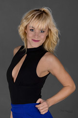Enthusiastic Ania (piotr_szymanek) Tags: ania aniaz woman young skinny face eyesoncamera portrait studio blonde nobra 1k 20f 5k 10k 50f