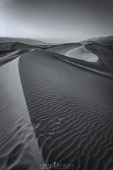 Ripples of Time (ihikesandiego) Tags: mesquite sand dunes death valley national park blackandwhitephotography
