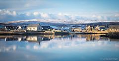 Walls, Shetland. (Sue MacCallum-Stewart) Tags: landscape scotland walls reflection winter snow
