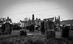 Moffat (wayman2011) Tags: colinhart fujifilmxf18mmf2 fujifilmxt1 lightroom5 wayman2011 bwlandscapes mono town graveyards gravestones scotland moffat uk