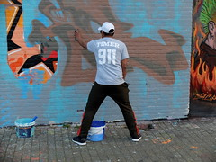 Schuttersveld - Old school legend TIMER (oerendhard1) Tags: graffiti streetart urban art rotterdam oerendhard crooswijk schuttersveld old school timer work legend