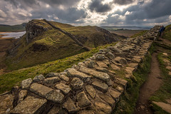 Walking the wall...... (Dafydd Penguin) Tags: hadrians wall roman historic ancient monument national trail coast sycamore pass ridge northumberland uk england scotland hill view landscape leica m10 voigtlander 15mm super wide heliar f45 walking walk ramble rambling