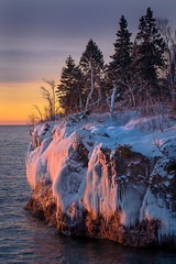 Baptism River 20190104-_DSC1012 (Prairieworks Pictures) Tags: lakesuperior northshore stateparks tettegouchestatepark snow winter sony a7r3 a7riii zeiss loxia loxia2485 sunrise goldenhour