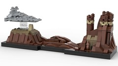 Lego Star Wars - Jedha Skyline MOC (dayman1776) Tags: jedha rogue one star wars lego legos brick bricks moc own creation jyn erso cassian andor imperial destroyer empire mini miniscale micro microscale architecture prequel prequels creative amazing 3d render