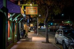 Night Moab Street (yarnim) Tags: moab street night nightphotography lowlight a7m3 ilce7m3 a7iii sel24105g zoomlens zoom streetphotography storefront lights utah sony