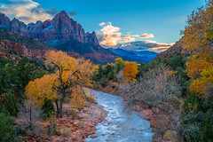 Peak Zion NP Autumn Colors! Zion National Park Fall Foliage Utah Autumn Colors Fine Art Landscape & Nature Photography! Sony A7R II & Sony SEL24240 FE 24-240mm f/3.5-6.3 OSS Zoom Lens! Super Sharp High Res 4K 8K McGucken Fine Art! Virgin River Watchman (45SURF Hero's Odyssey Mythology Landscapes & Godde) Tags: peak zion np autumn colors national park fall foliage utah fine art landscape nature photography sony a7r ii sel24240 fe 24240mm f3563 oss zoom lens super sharp high res 4k 8k elliot mcgucken virgin river west side watchman