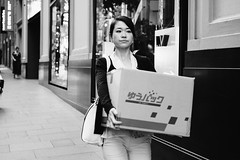 L.V (McLovin 2.0) Tags: candid people portrait urban city shopping sydney street streetphotography sony a7s 55mm zeiss bokeh eyes shop window bw monochrome box
