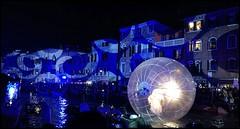 Magic Venice in Blue (collage42 -Pia-Vittoria//) Tags: venezia venice italy blue night moon cannaregio bluelight carnevale2019 carnival2019 venicecarnival