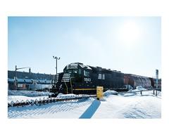 limoilou (Mériol Lehmann) Tags: landscape winter train cold canada locomotive quebec snow topographies