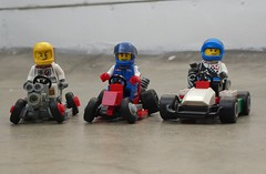 Three little racers (captain_joe) Tags: toy spielzeug 365toyproject lego minifigure minifig moc febrovery space rover car auto 886 gokart