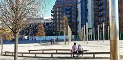 """Before The Match"" Take 2 (standhisround) Tags: seat seats people benchmonday bench wembley wembleystadium northwestlondon london england uk trees lights building buildings construction plaza hbm sunshine shadows"