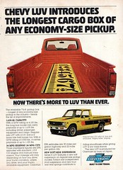 1978 Chevrolet LUV Light Utility Vehicle USA Original Magazine Advertisement (Darren Marlow) Tags: 1 7 8 9 19 78 1978 c chev chevy chevrolet l u v luv light utility vehicle p pickup car cool collectible collectors classic a automobile j jap japan japanese asian asia 70s