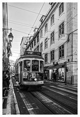 lisbon tram (Mallybee) Tags: kitlens xa1 fujifilm apsc bayer xmount streetphoto bw blackandwhite dxo filmpack5 grain lisbon tram xc 1545mm f3556 ois pz danabee