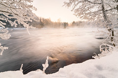 Season Over! (laurilehtophotography) Tags: kapeenkoski laukaa talvi suomi finland landscape nature snow ice river water forest sunrise longexposure nikon d610 samyang 14mm winterwonderland awsome earth europe