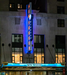 Lighing Up the Building (Jocey K) Tags: sonydscrx100m6 triptocanadaandnewyork architecture windows newyorkerhotel hotel illuminations signs